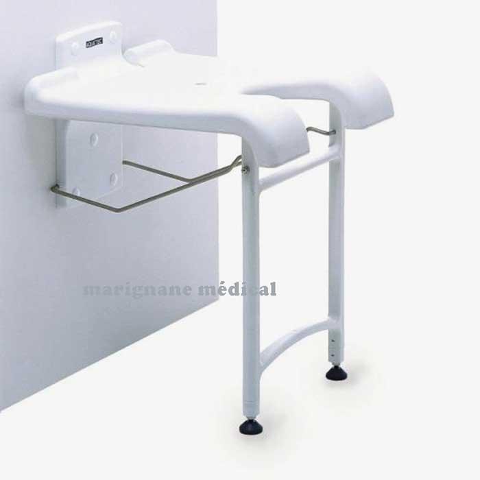 si ge de douche mural rabattable sansibar salle de bain. Black Bedroom Furniture Sets. Home Design Ideas