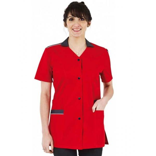 tunique-medicale-femme-isaline-rouge-anthracite